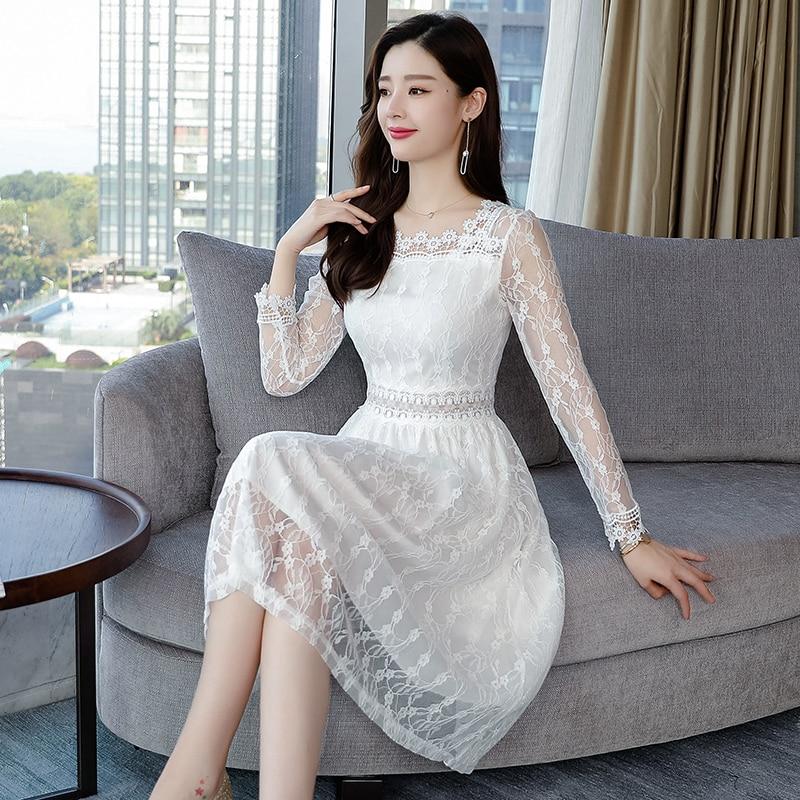 Vintage lace white dress