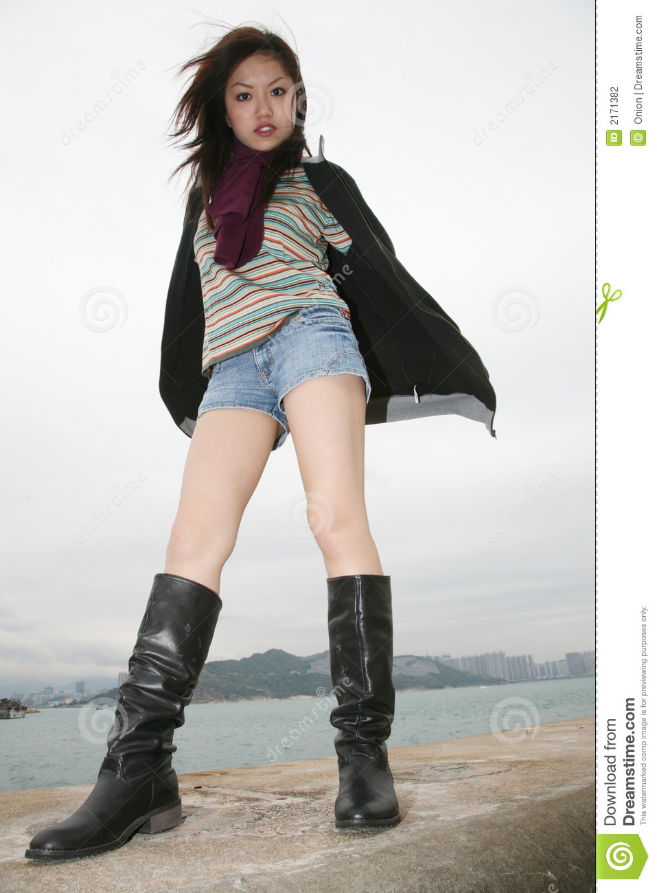 Asian boot girl in