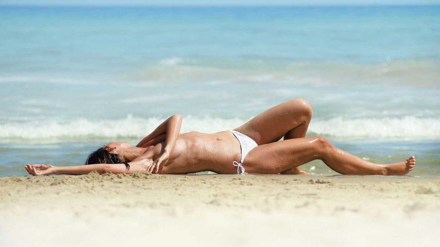 Beach nude couples having sex
