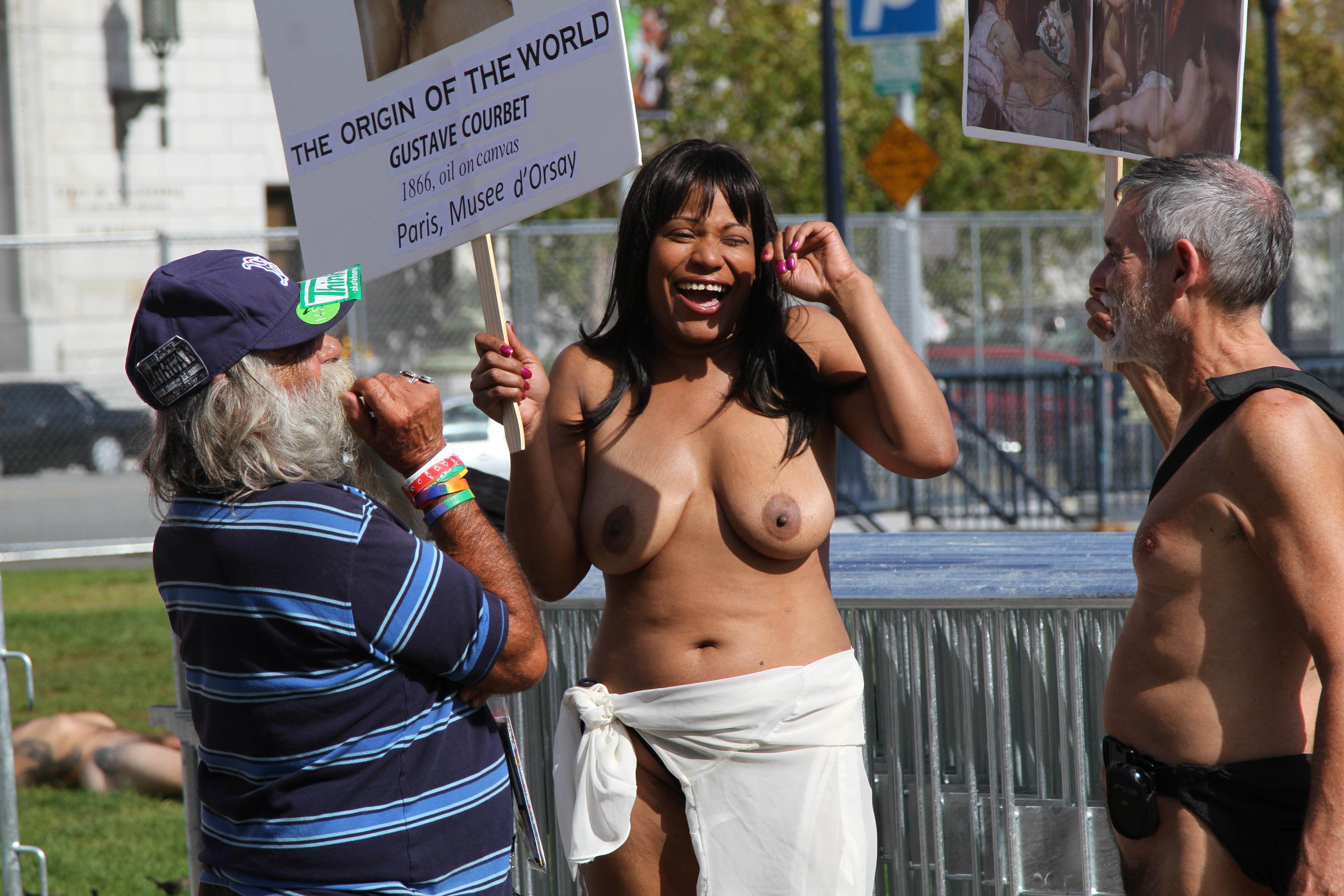 Nude black women naked in public