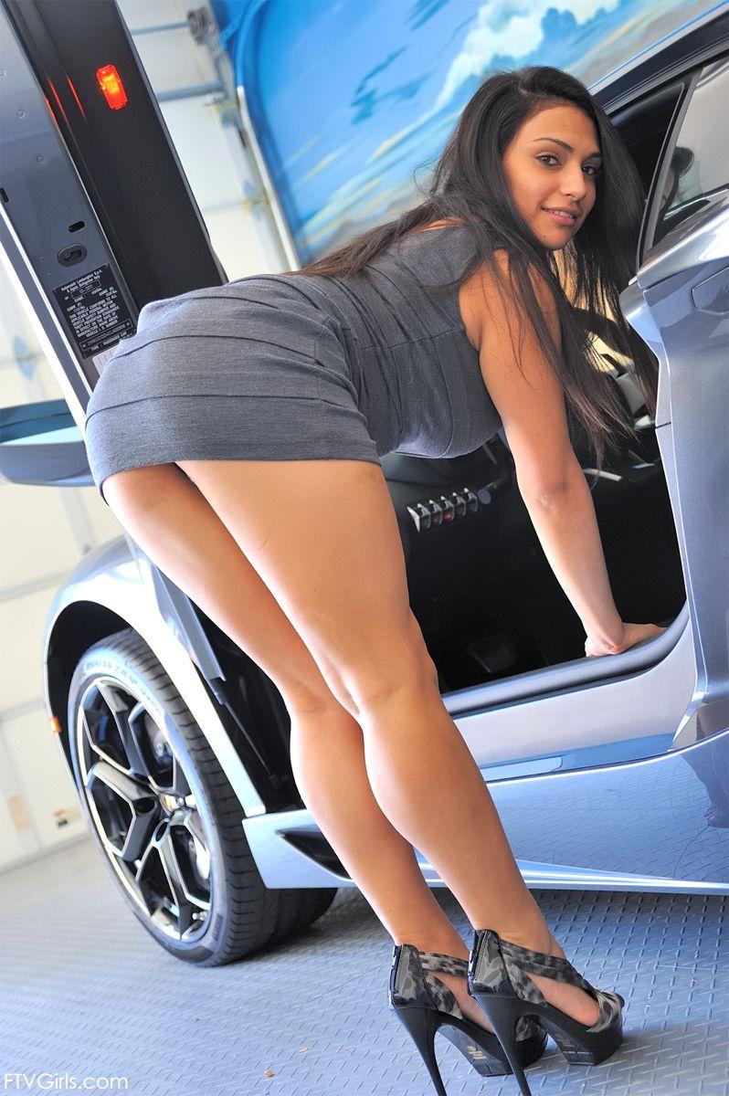 Sexy girls skirt bending over