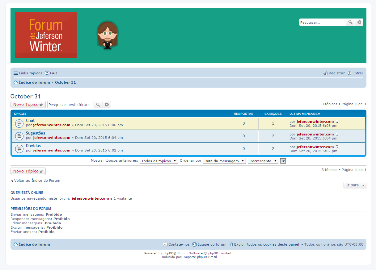 Extreme pissing powered by phpbb