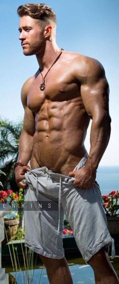 Hot muscly hunk nude