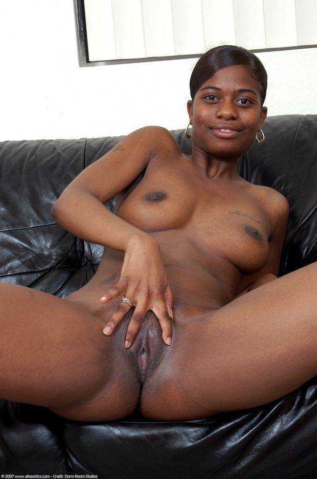 Black pussy and boob