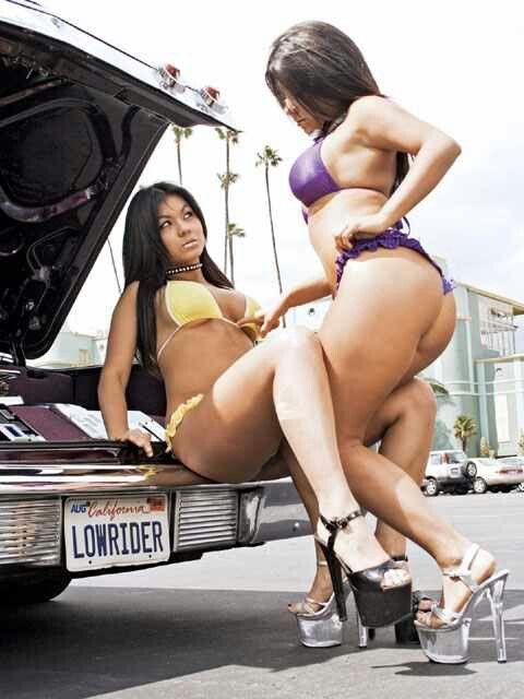 Lowrider magazine girl model nude