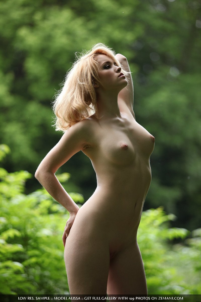 Alissa naked girl in the green forest
