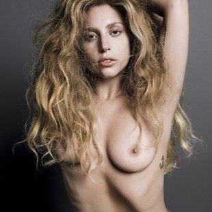 Lady gaga is naked