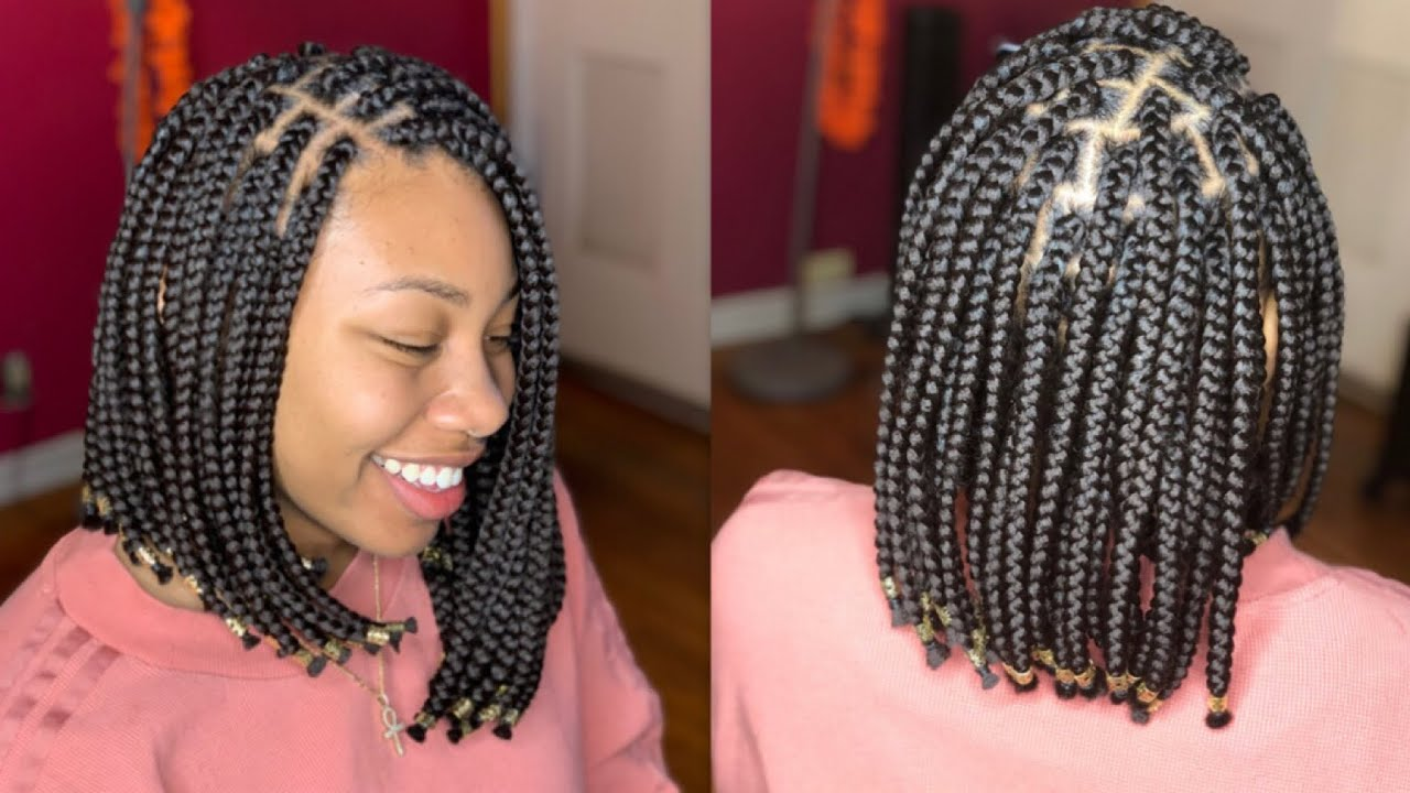 The bob hair in braids
