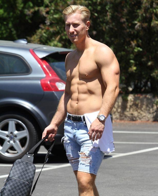 Man bulge on the street