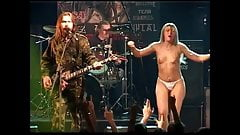 Naked girs on stage
