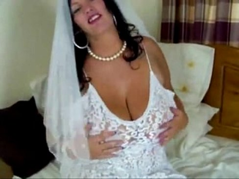 Busty bride tits wedding dress milf porn