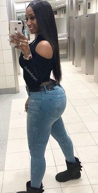 Curvy teen black booty