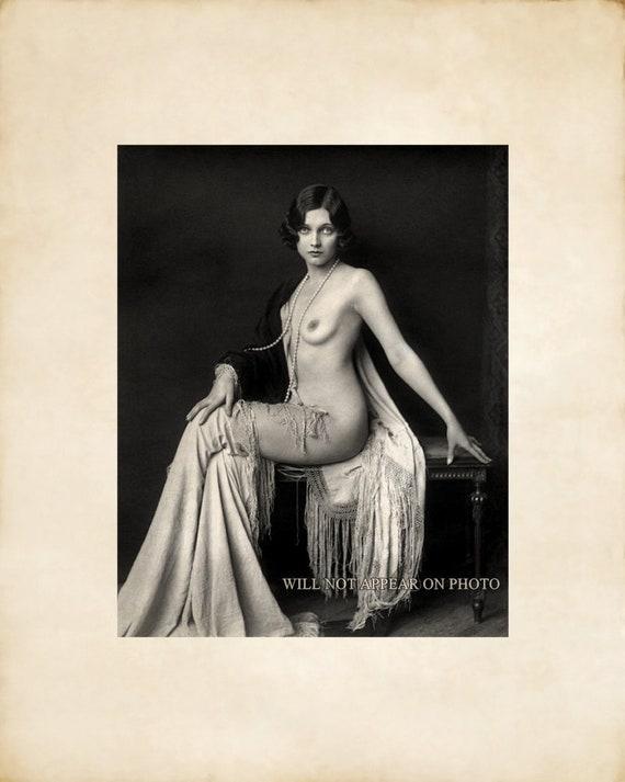 Vintage masquerade ball nude