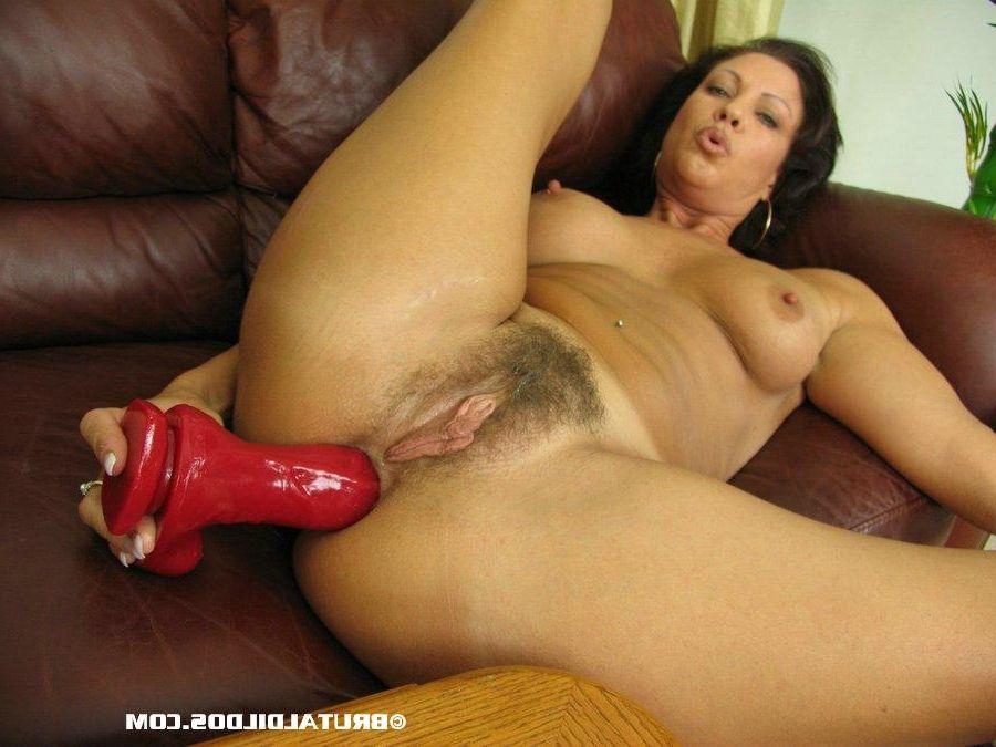Mature woman anal dildo