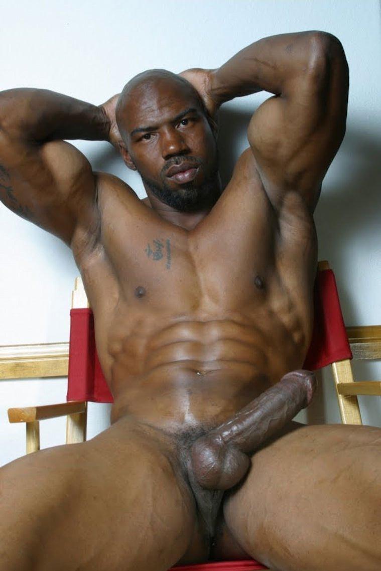 Big black muscle men naked