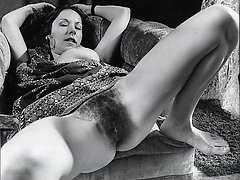 Vintage retro nude mature women