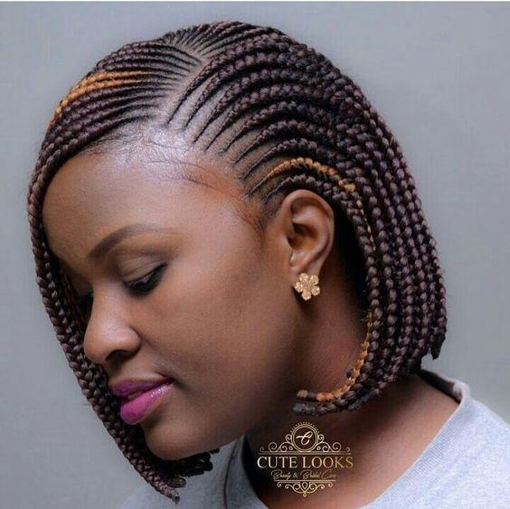 The bob hair in braids