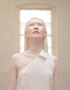 Beautiful albino girl nude