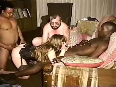 Interracial wife group sex