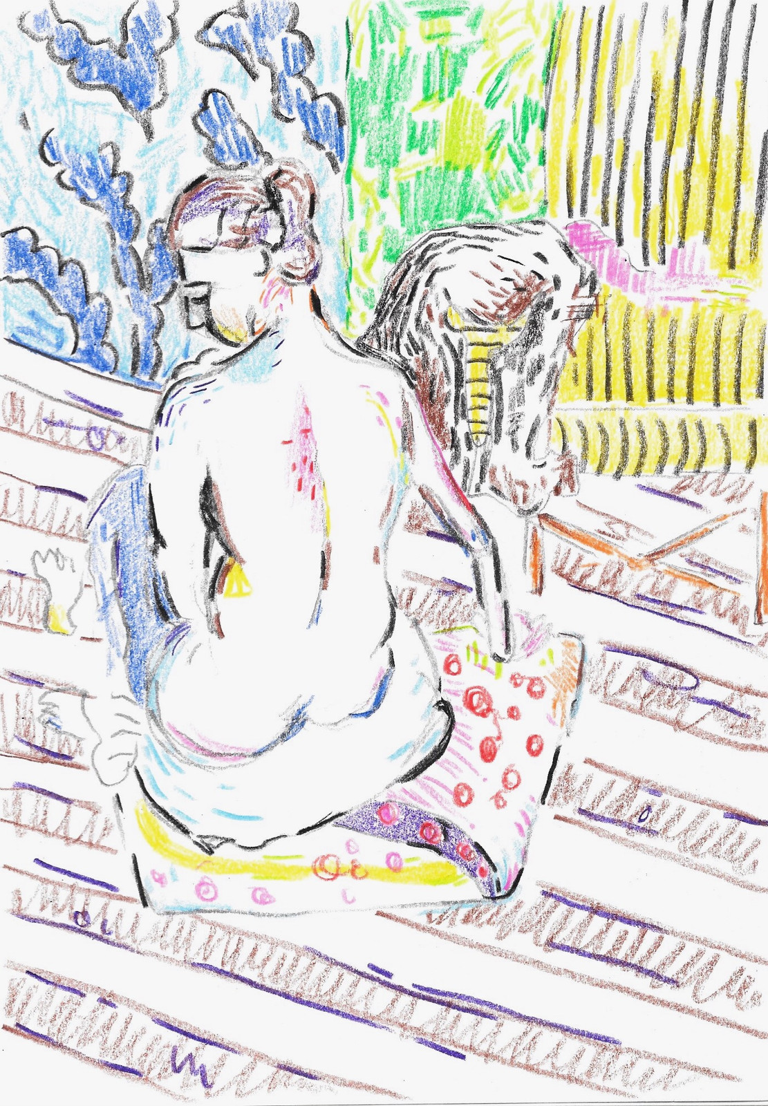 Matisse seated nude back turned