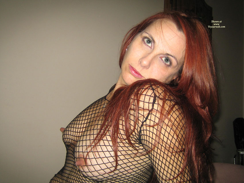 Nips poking through fishnet