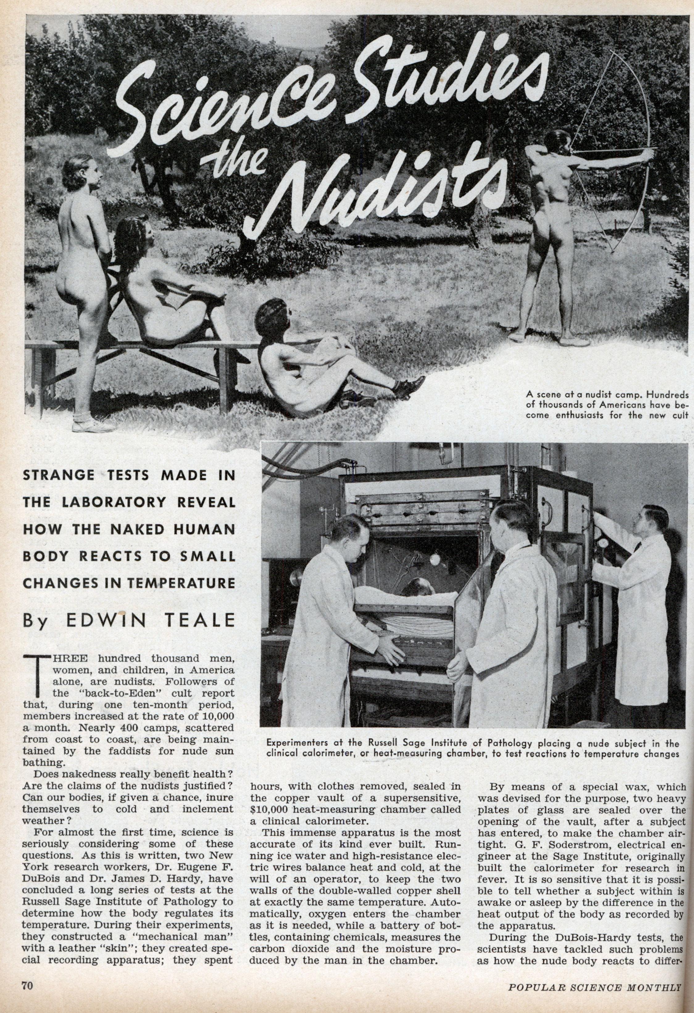 Nudism naturism retro vintage photos images