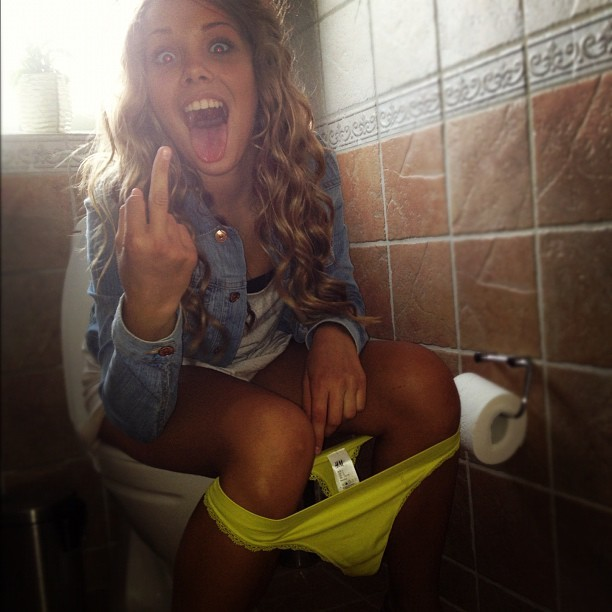Girls caught peeing on toilet tumblr