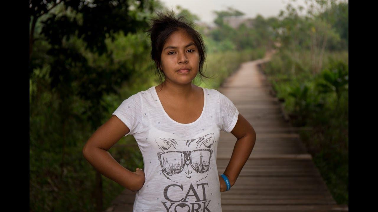 Young peruvian teen girl
