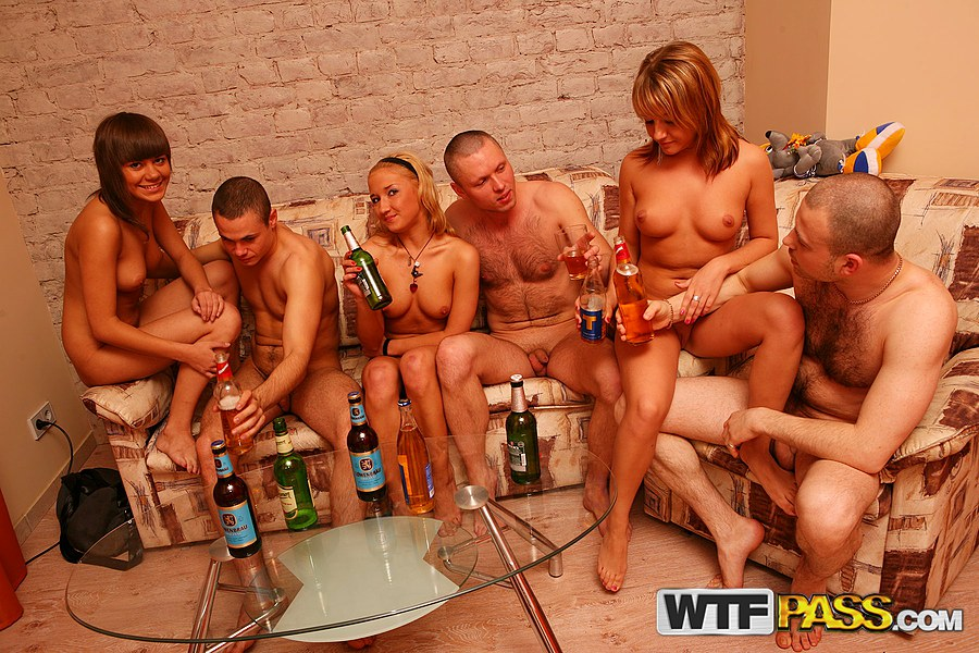 Group naked girls having sex with boys