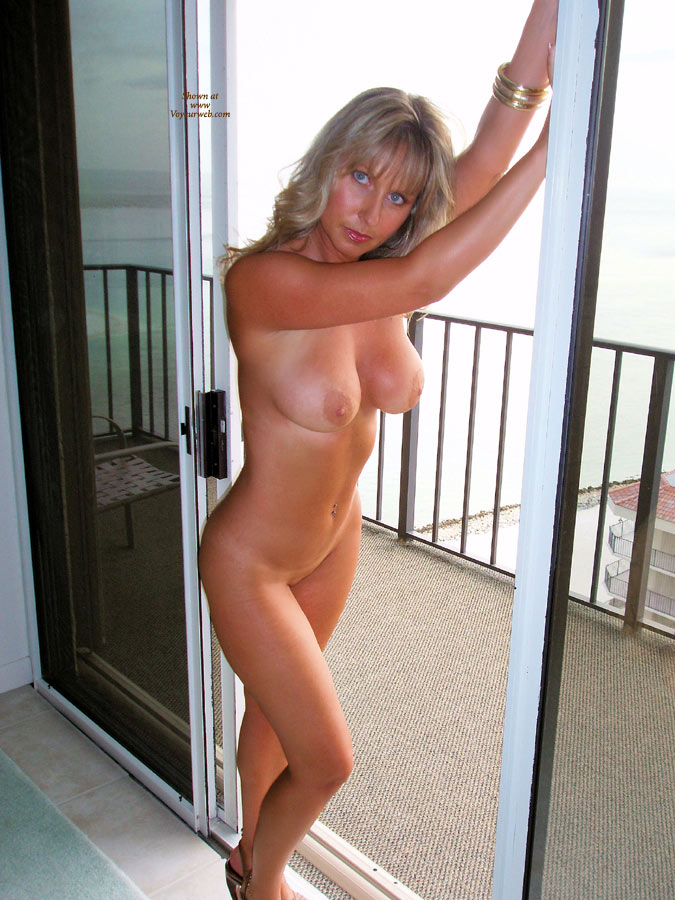 Hot blonde milf standing naked