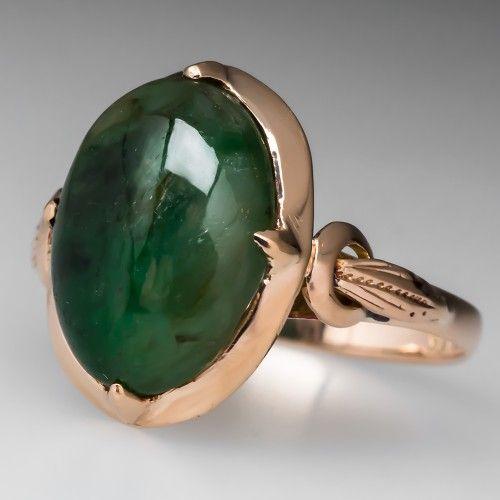Asian style mens jade ring