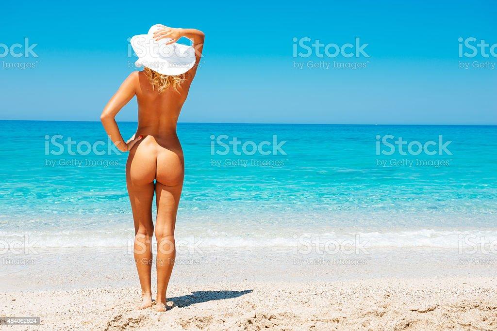 Nudist women at the beach