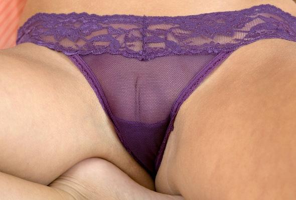 Bald pussy in panties