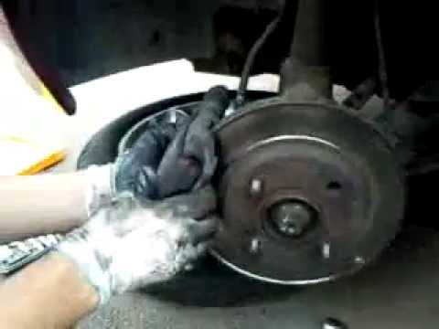 Changing brake pads on escort