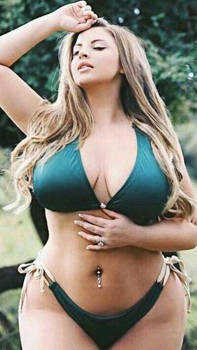 Big curvy girl bikini