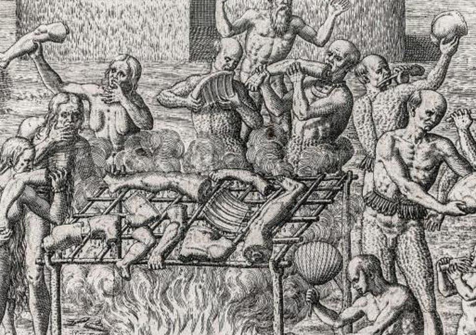 Cannibal cooking art girl