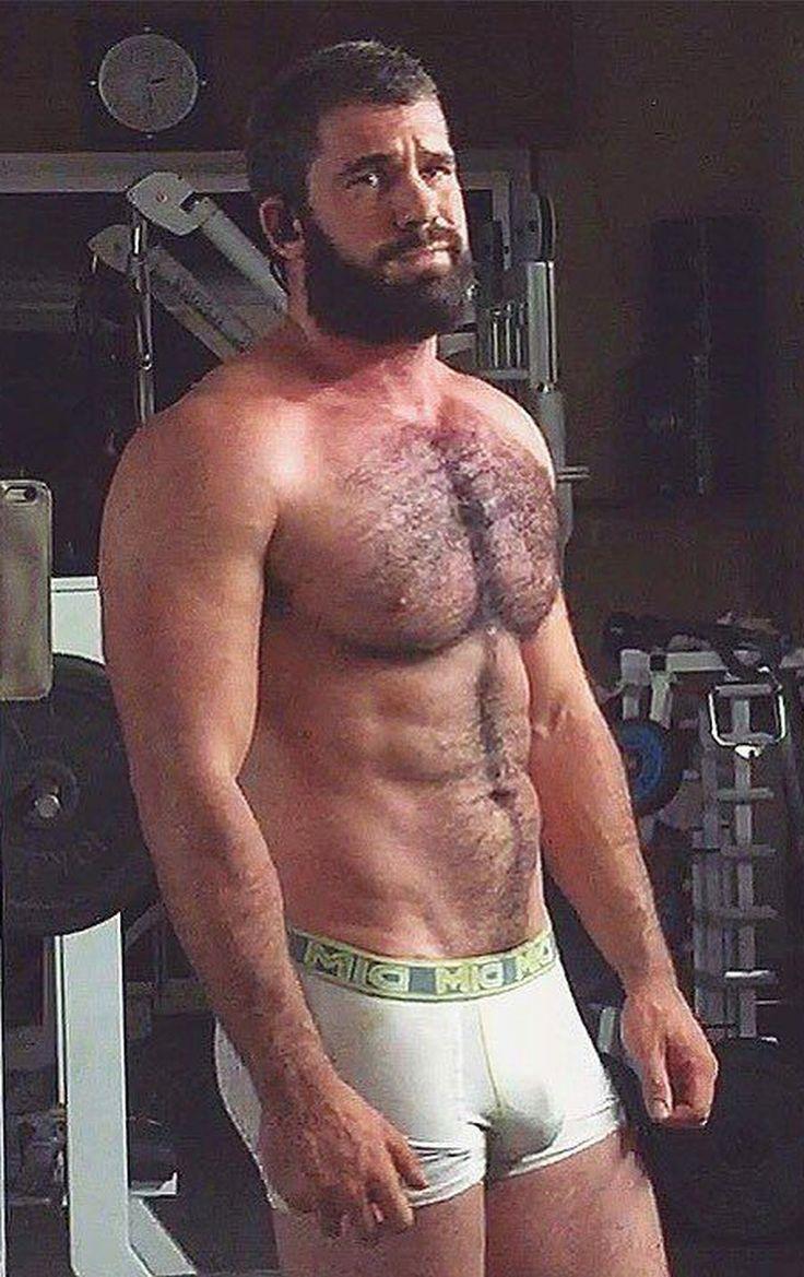 Nude muscle hairy men
