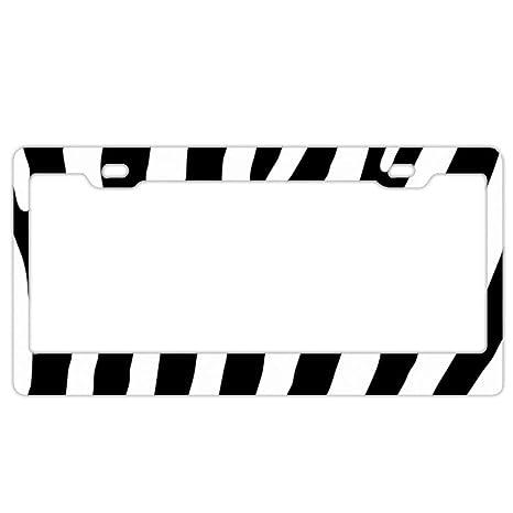 Zebra striped license plate