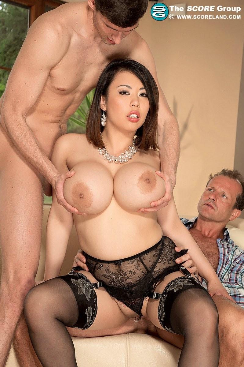 Asian big tits dp anal porn