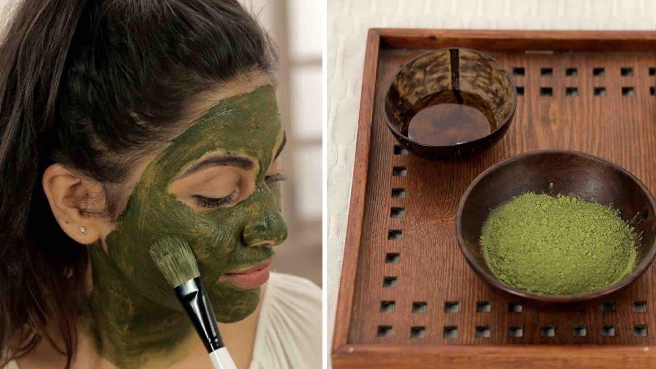 Homemade facial masks tea