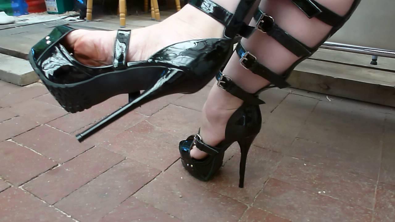 Nylons and high heel bondage