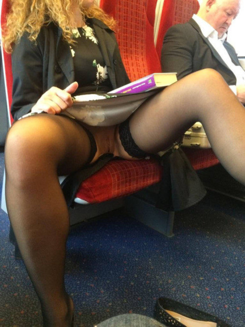 Amateur public upskirt no panties