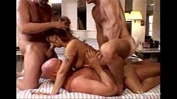 Husband watch wife gangbang