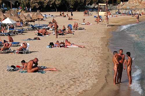 Greek family nude beach