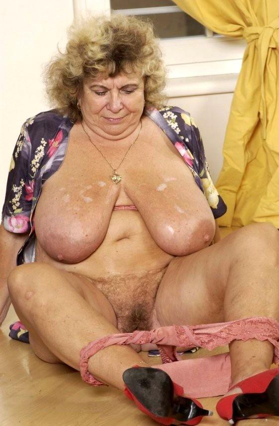 Bbw granny big boob hairy pussy