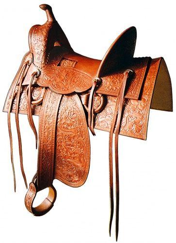 Vintage western leather saddles