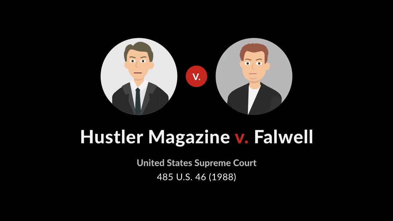 Falwell lawsuit vs hustler