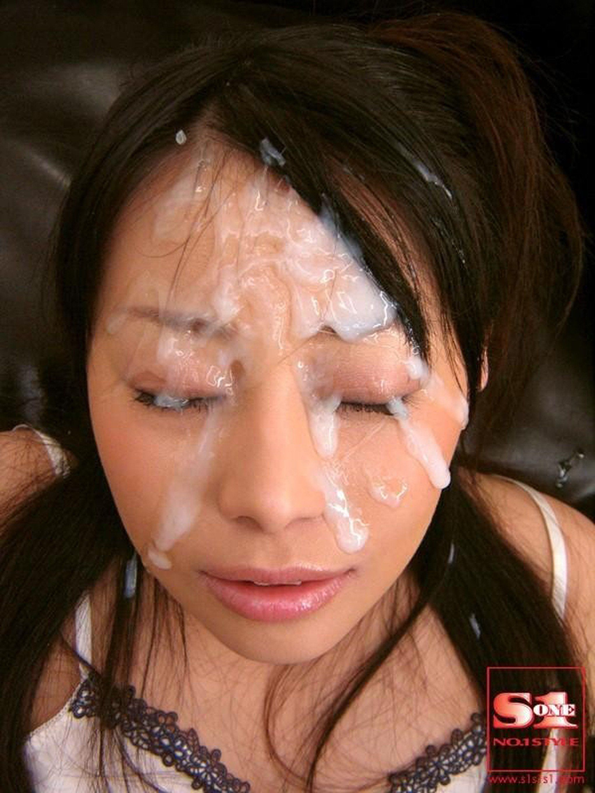 Asian cum facial bukkake