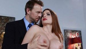 Big tits huge cock blowjob