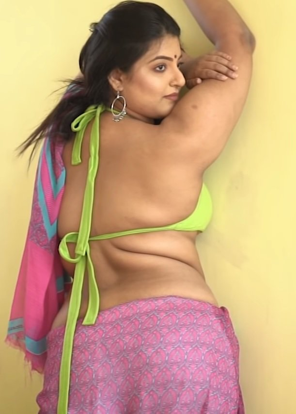 Hot pink blouse bhabhi
